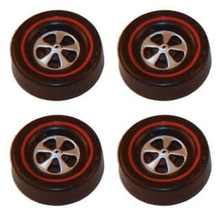 Deep Dish Cap Wheels Large – Dull Chrome