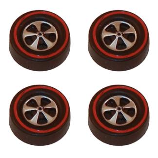 Deep Dish Cap Wheels Medium – Dull Chrome