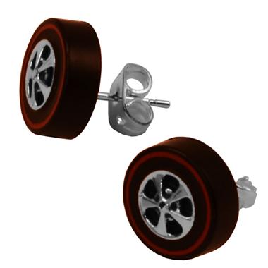 Hot Wheels Redline Earrings