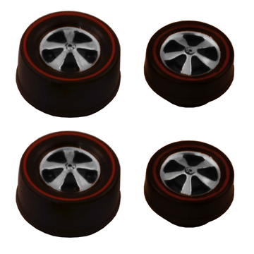deep dish Bearing Wheels Small and Medium – Dull Chrome